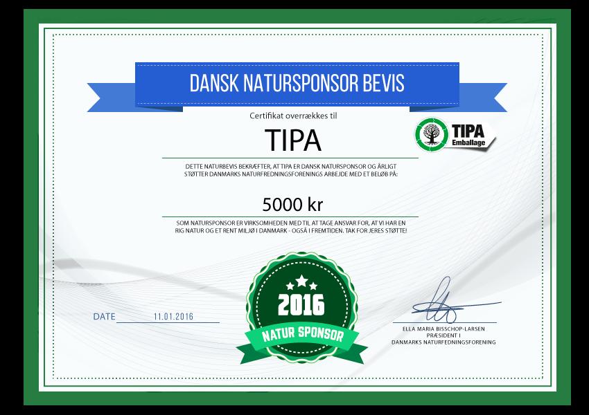 TIPA EMBALLAGE - Natursponsor 2016
