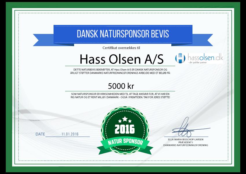 Hass Olsen A/S - Natursponsor 2016