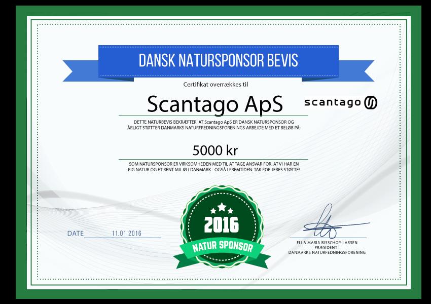 scantago ApS - Natursponsor 2016